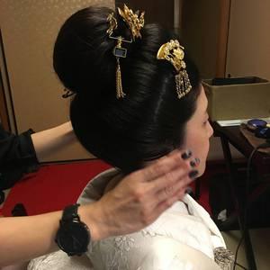 和装ブライダル かつら?いえ、地毛です(^^)/
